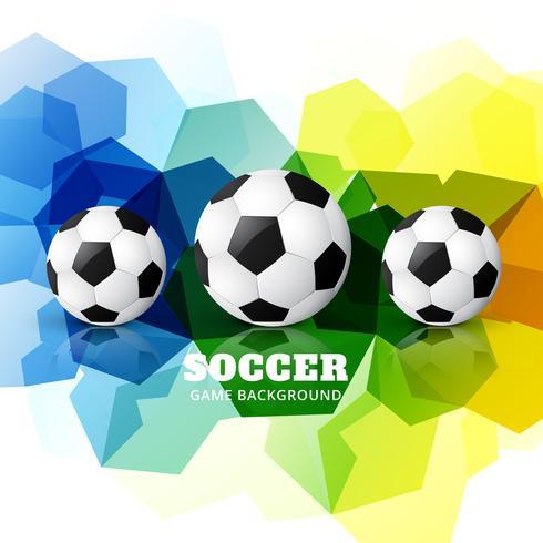 design de futebol colorido