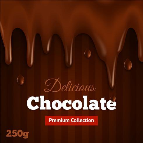 Mörk choklad bakgrundsutskrift