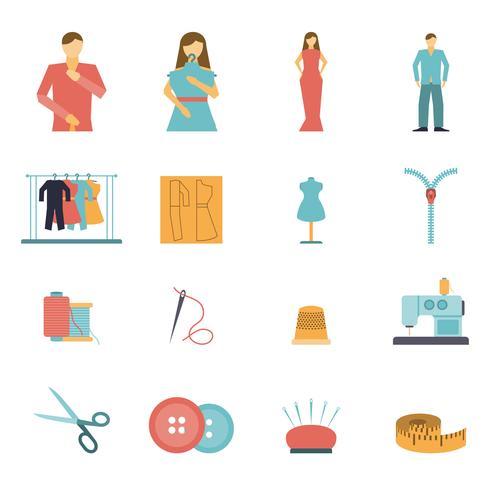 Conjunto de iconos de herramientas de diseñador de moda