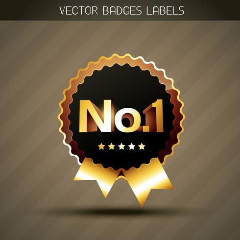 gyllene vinnare etikett