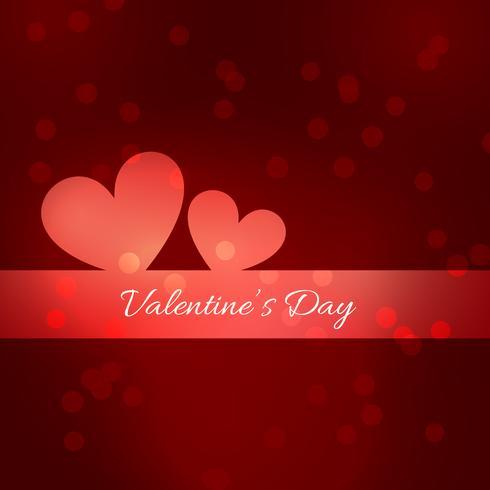 Valentinstag Hintergrund mit Herz vektor
