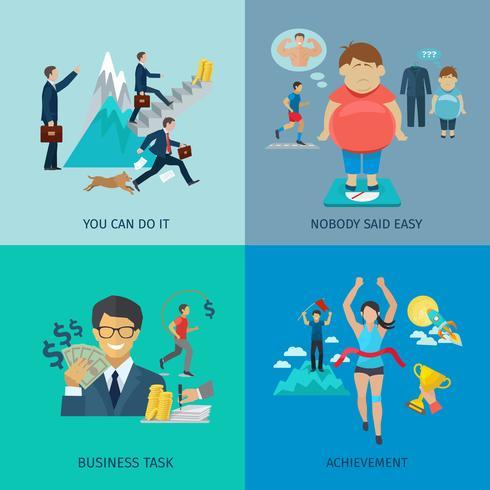 motivation platt uppsättning vektor