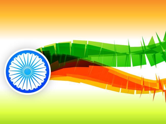 kreatives indisches Flaggendesign gemacht im Wellenstil