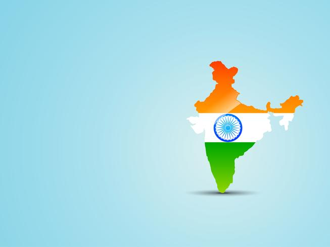 vector map of india with indian flag