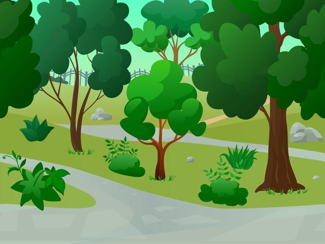 Ilustração de paisagem do parque vetor