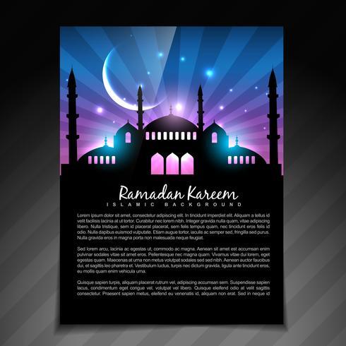 glänzende Ramadan-Vorlage