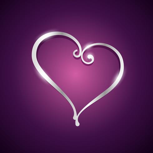 mooie hartvorm illustratie