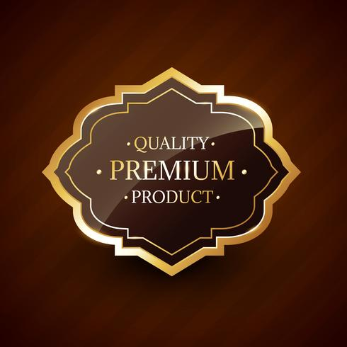 quality premium product design golden label badge