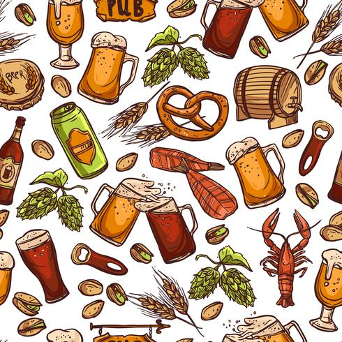 Cerveja padrão sem emenda vetor