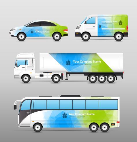 Transport Advertisement Design vector