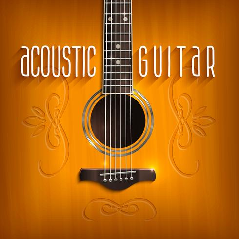 Acoustic Guitar Background vector
