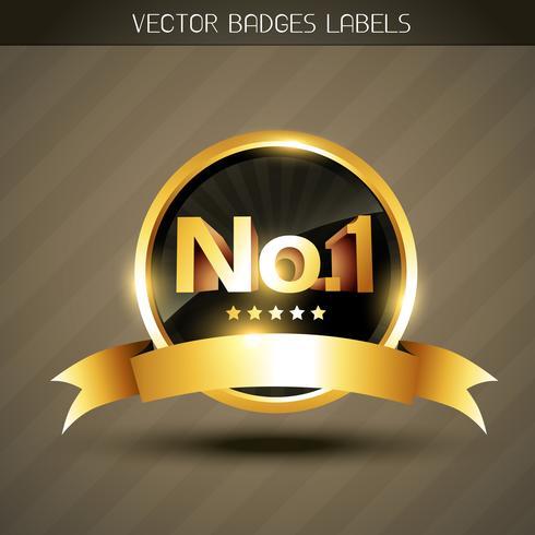 Vektor Gewinner golden Label