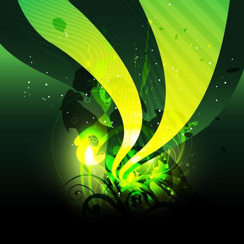 onda verde vettoriale