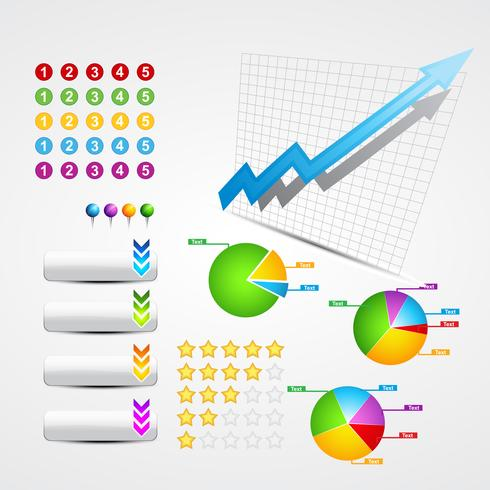 set of business and web elements vector