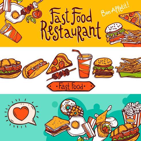 Fast-Food-Banner vektor