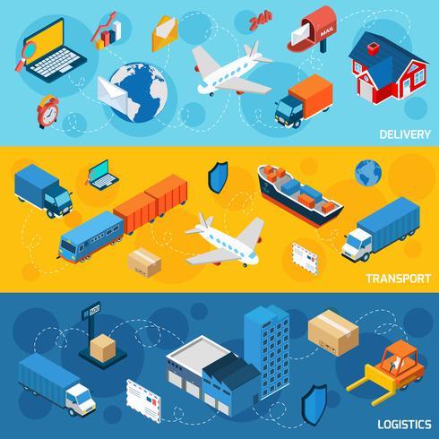 Set di banner logistico