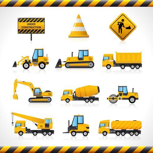 Conjunto de máquinas de construção