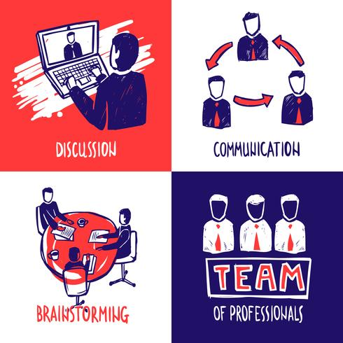 Teamwork-Design-Konzept