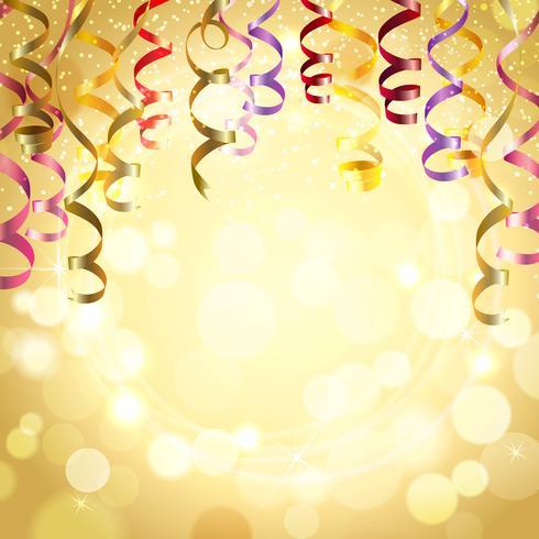 Sfondo di celebrazione con stelle filanti