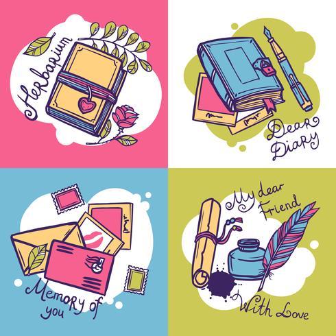 Tagebuch-Design-Konzept