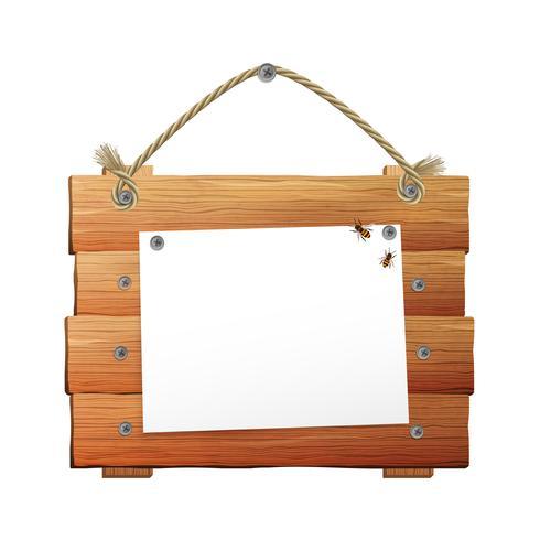 Panneau en bois avec corde