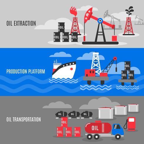 Set de pancartas de petróleo vector