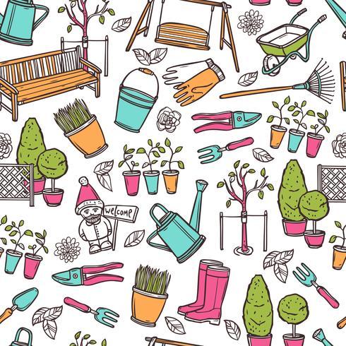 Jardinage Seamless Pattern vecteur