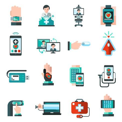 Iconos de medicina digital
