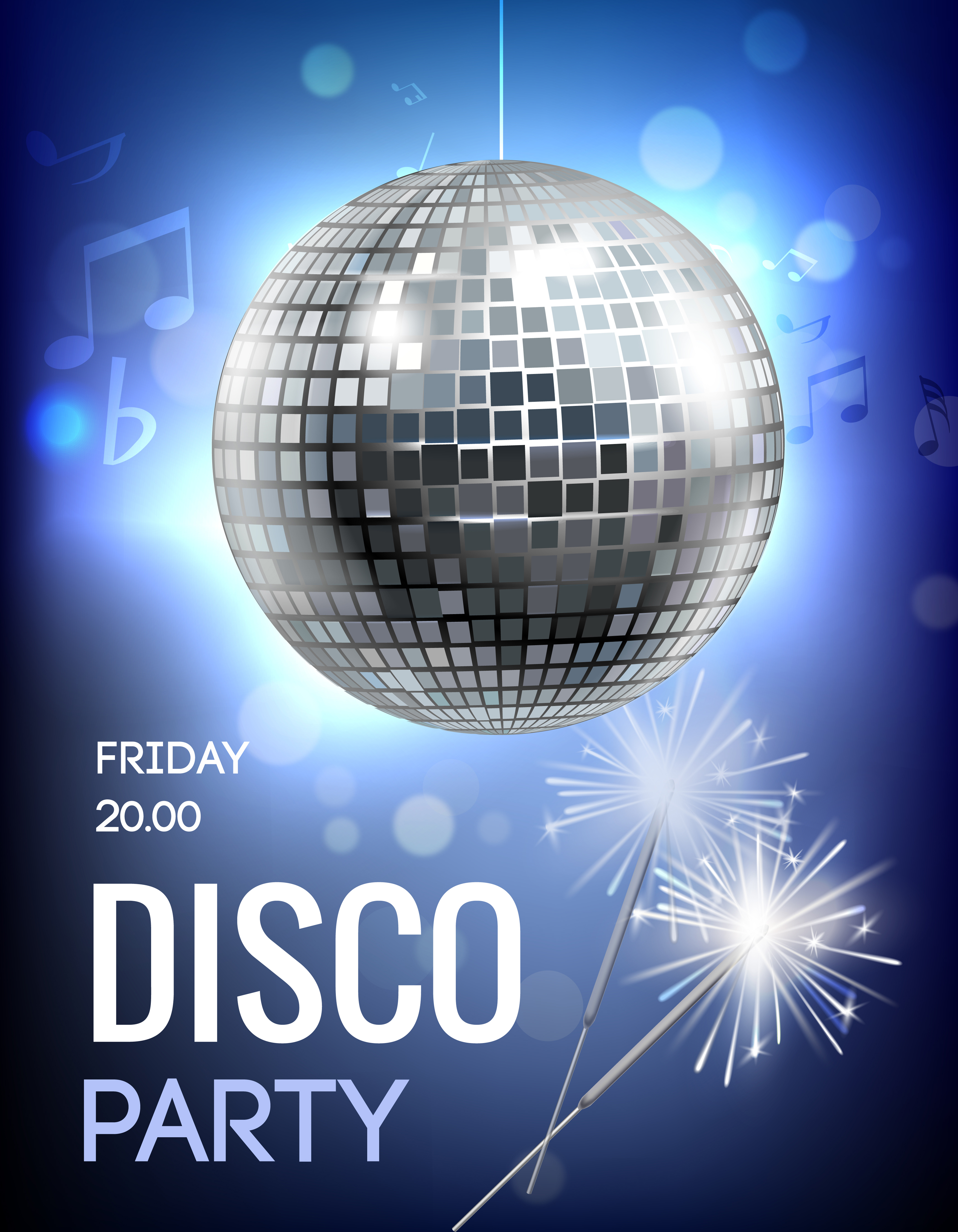 Disco Party Poster Download Free Vector Art Stock