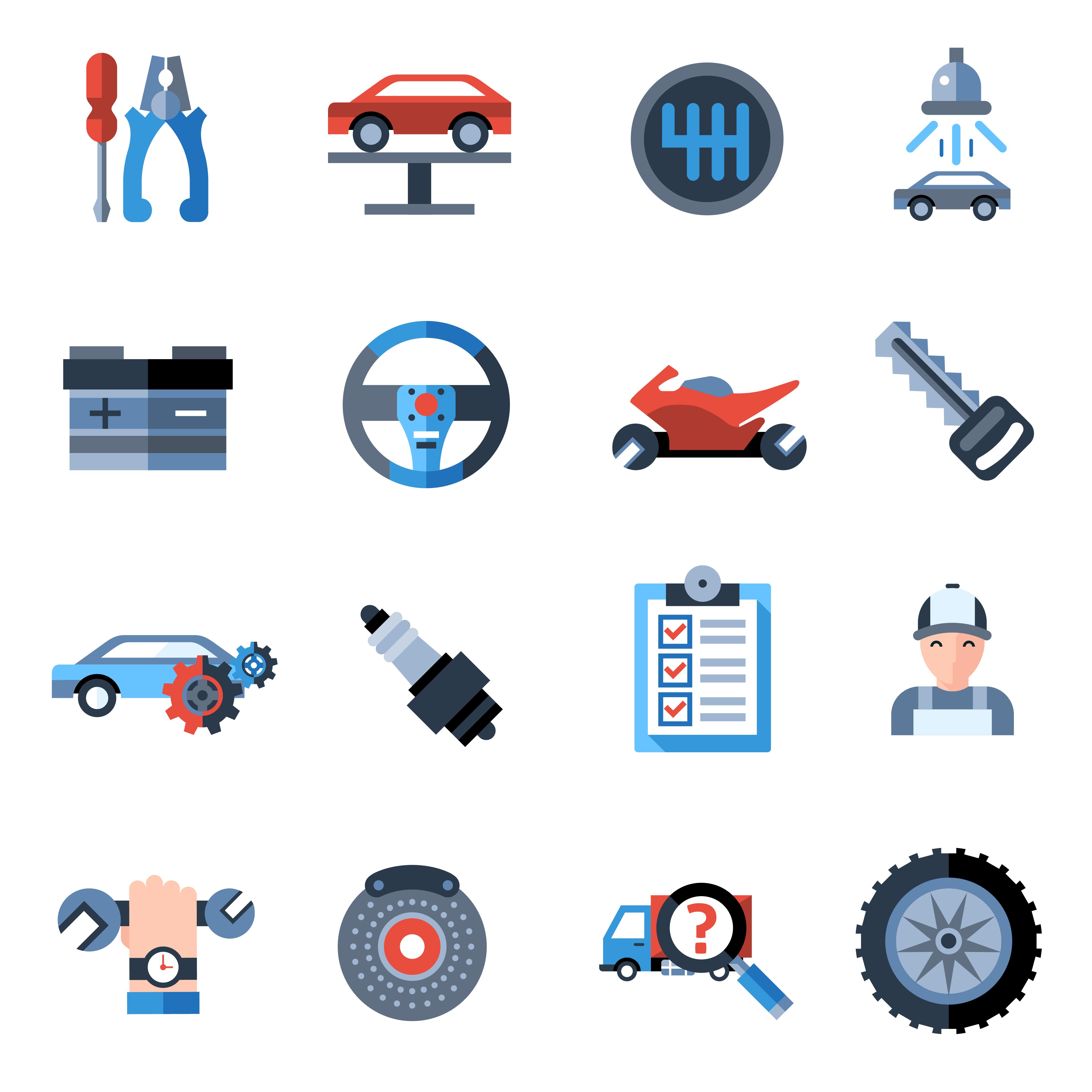 Car Repair Icons - Download Free Vectors, Clipart Graphics ...