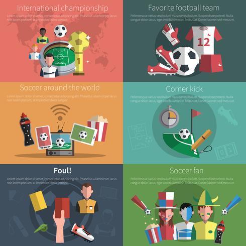 ensemble de mini affiches de football