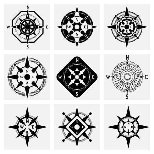 Conjunto de iconos de brújula
