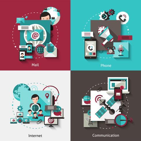 concept de communication design set vecteur