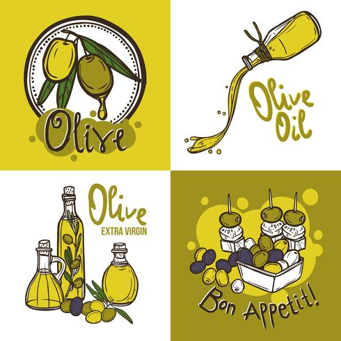 Olivgrünes Konzept