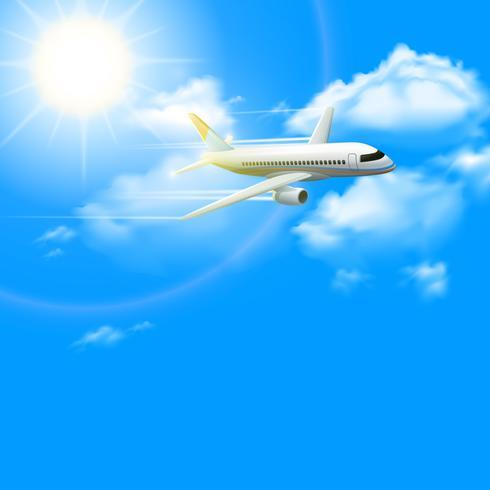 Realistische vliegtuig Poster