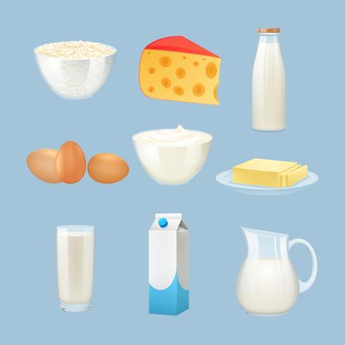 Set de Productos de Leche