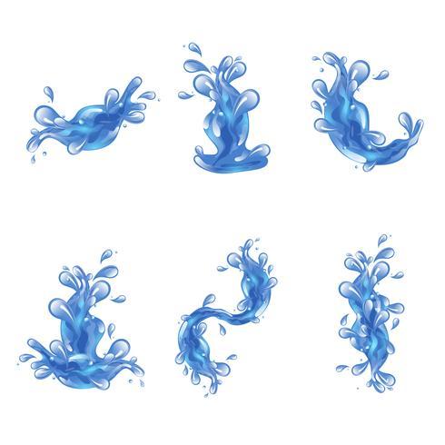 Conjunto de respingos de água