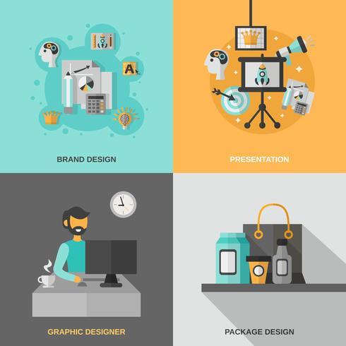 Conjunto de ícones de branding