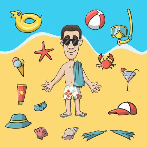 Pacote de construção de personagem de viagens de férias