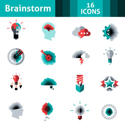 Brainstorming Icons Set