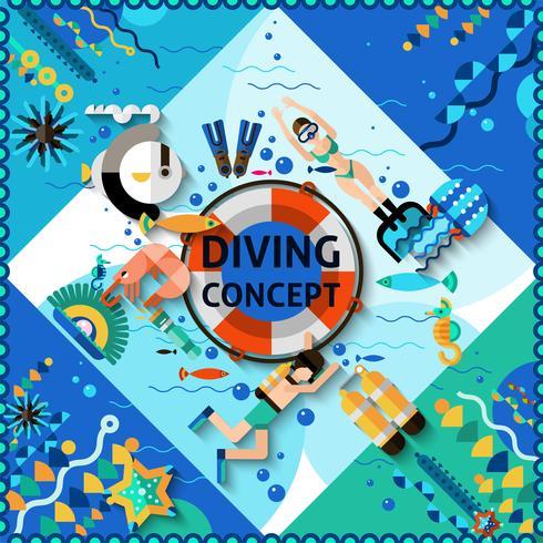 Scuba Diving Concept vector