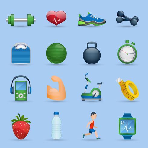 Fitness ikoner set