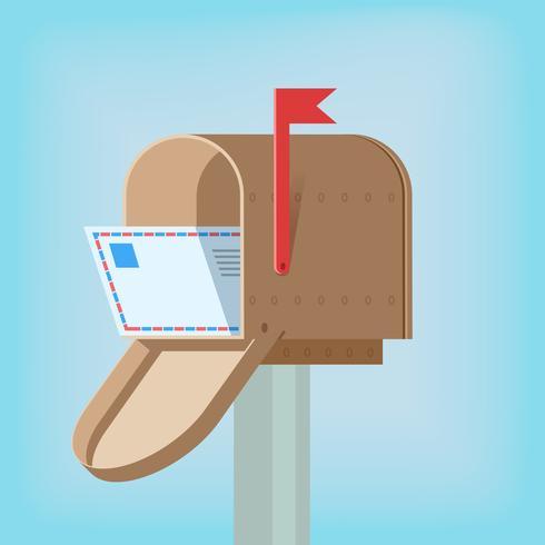 Caja postal con letra