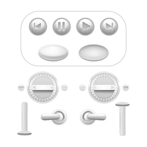 Button Set White