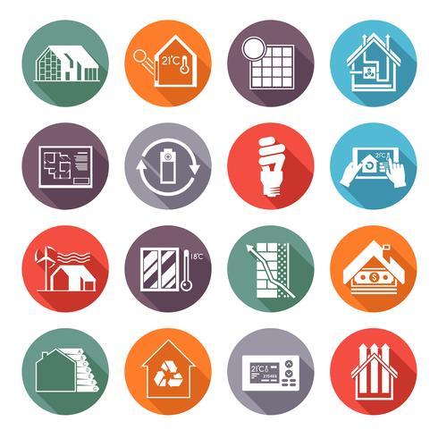 Energiebesparende huis vector