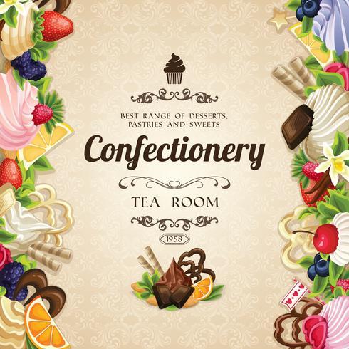 Süßigkeiten Desserts abdecken