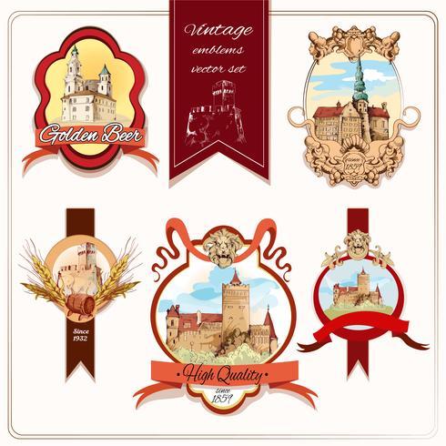 Emblemi della città colorati