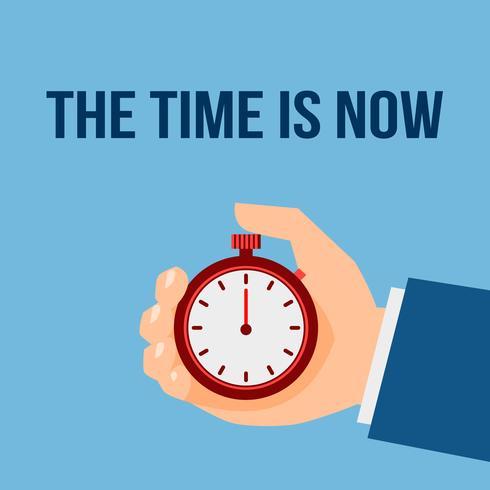 Tijdbeheer stopwatch-poster vector