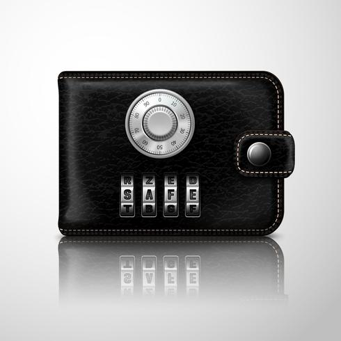 Wallet locked with combination code