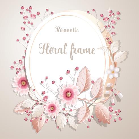Quadro de flor romântica